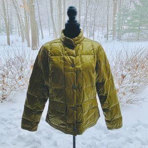 Vintage Eddie Bauer Green Goose Down Puffer Jacket